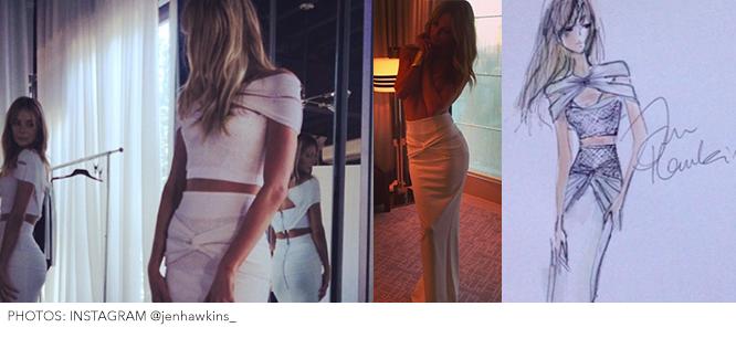 Jennifer Hawkins Logies Instagram Pics