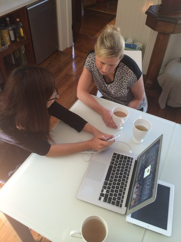 Rochelle meets with Betty to talk designs for the first time.