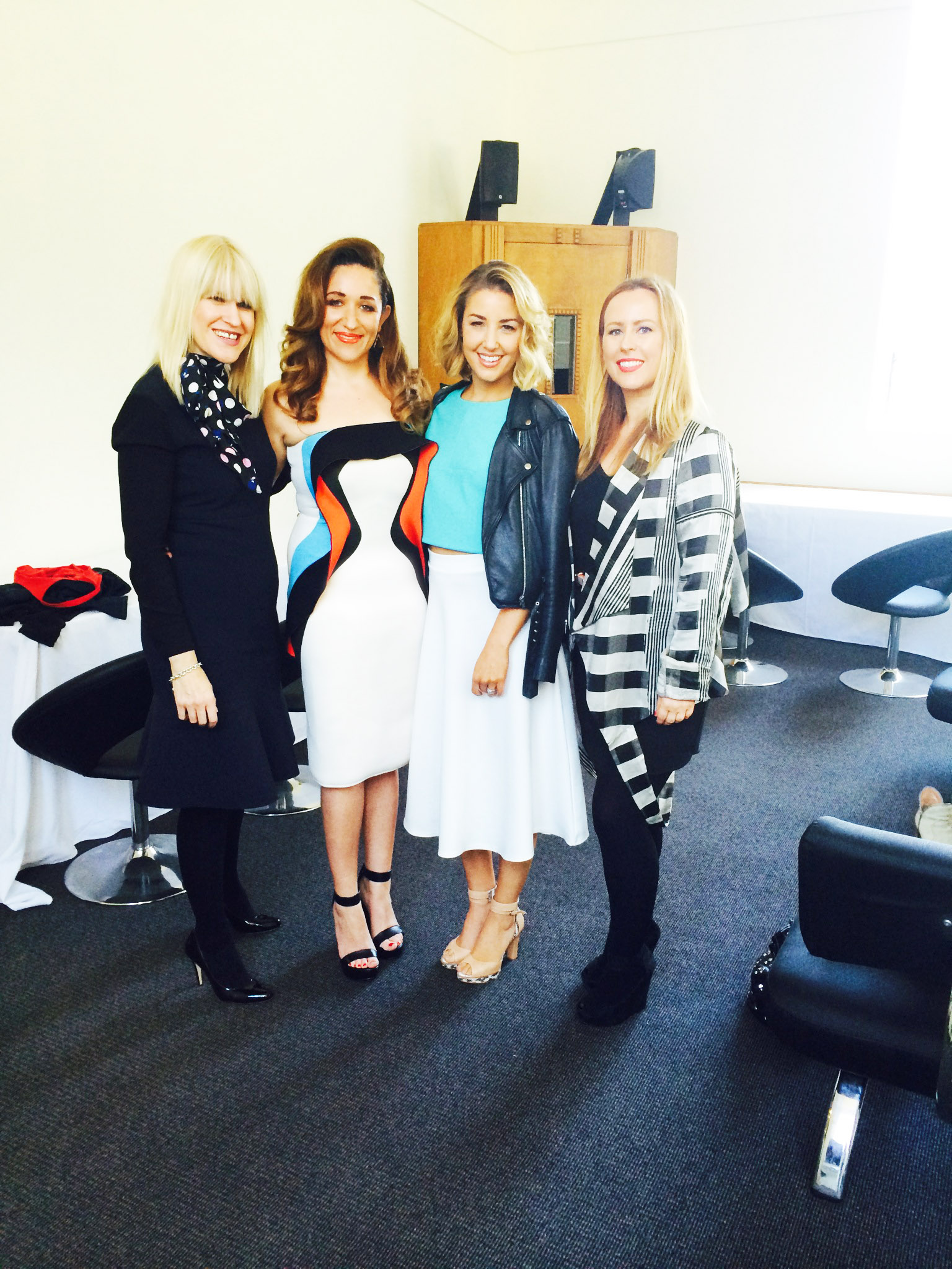 My dream team! Jo from Toni & Guy and Becca Gilmartin with Ally and I